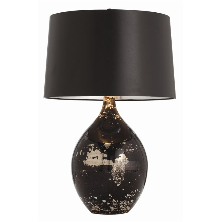 Arteriors Flynn Mercury/Black Reactive Glass Table Lamp On Sale. Glass Body  Table Lamp With Black And Gold Reactive Marbled Finish And Is Topped With A  ...