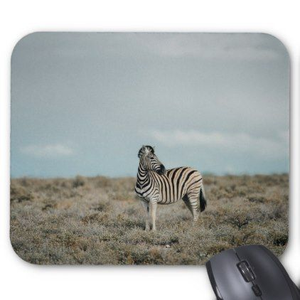 Plains Zebra   Equus burchellii Mouse Pad - plain gifts style diy cyo
