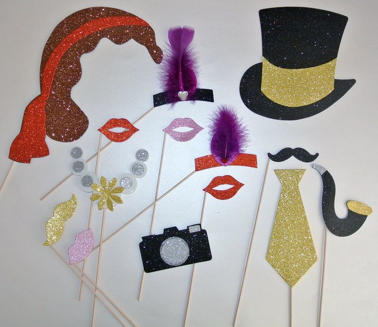 Amazon.com: 1920 Inspired Great Gatsby Photo Booth Party Props Mustache on a Stick Wedding Photo booth Props Birthdays: Health & Personal Care