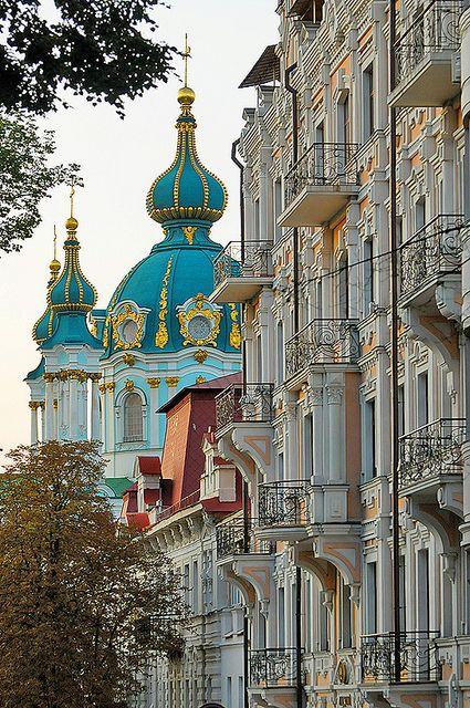 Kiev, Ukraine: Modern Home Design, Europe, Cities, Andrew Church, Kiev Ukraine, Beautiful Places, St. Andrew, Travel, Design Home