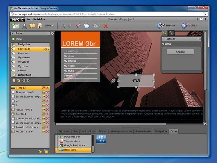 MAGIX Website Maker 5 Deluxe review | MAGIX Website Maker 5 Deluxe is more suited to personal sites than online businesses Reviews | TechRadar