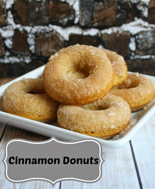 Homemade Cinnamon Donuts #Recipe {and Linky so you can link up your recipes too!} http://www.weidknecht.com/2014/05/homemade-cinnamon-donuts-recipe-and.html