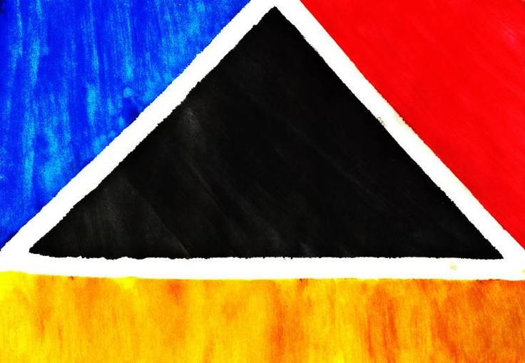Buy Black Triangle, a Oil on Paper by Aisyah Ghina from Indonesia. It portrays: Abstract, relevant to: paper, red, black, blue, yellow, triangle, conceptual, expressionism, abstract, minimalism, modern, oil The black triangle represents a misery in this world that surrounded by people emotions