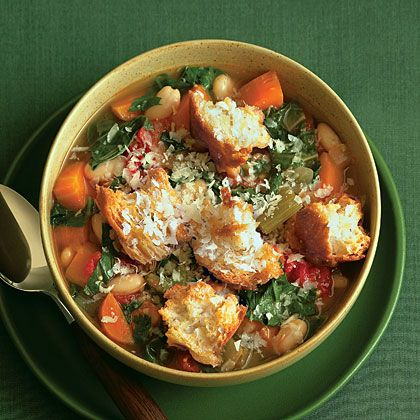 Toasted Bread, Bean, and Vegetable Soup | Your Daily Soup | MyRecipes.com