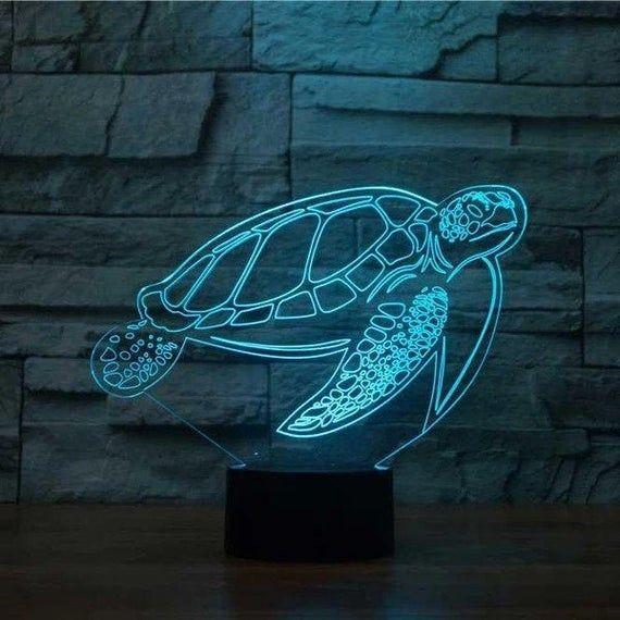 Turtle 3d Led Illusion Light Turtle Gift Turtle 3d Led Lamp Turtle Christmas Gift Led Light 3d 3d Illusion Lamp 3d Illusions Illusions