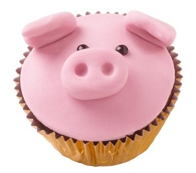 Wahhh, cutest cupcake ever. Pig! @Joanna Szewczyk Gierak Mohr