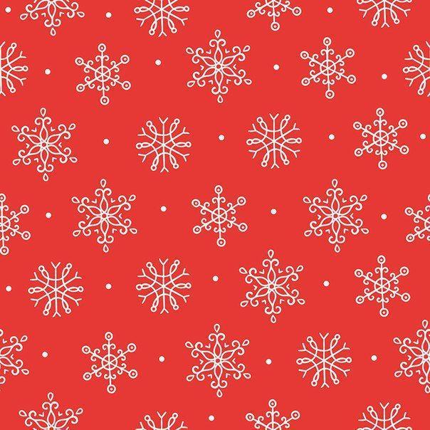 Фон снежинки на красном фоне.