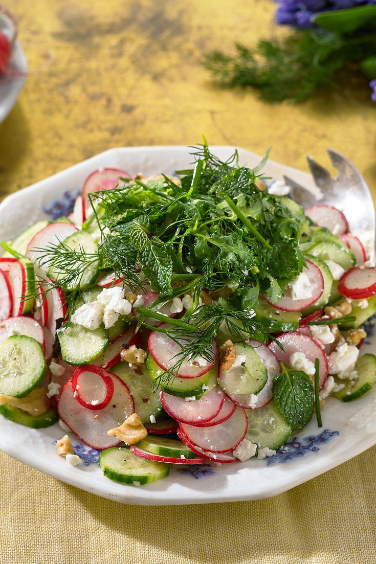 NYT Cooking: This light, crunchy salad is inspired by sabzi khordan, the heaping platter of fresh herbs, radishes, walnuts and feta cheese that accompanies nearly every Persian meal.