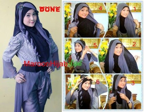 Modern Hijab Tutorial Segiempat 2015