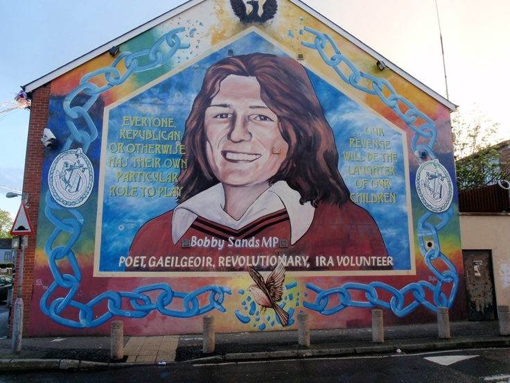 Belfast northern ireland bobby sands mural i remember for Bobby sands mural belfast