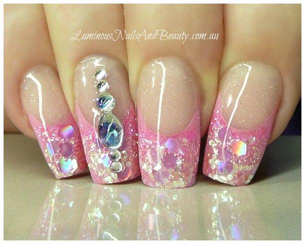 Pretty in Pink with Bling... by Teena - Nail Art Gallery nailartgallery.nailsmag.com by Nails Magazine www.nailsmag.com #nailart