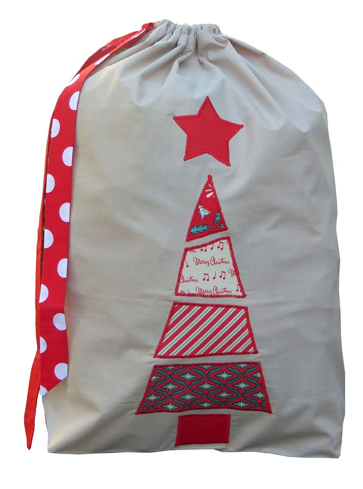 Patchwork Christmas Santa sack in red                                                                                                                                                                                 More