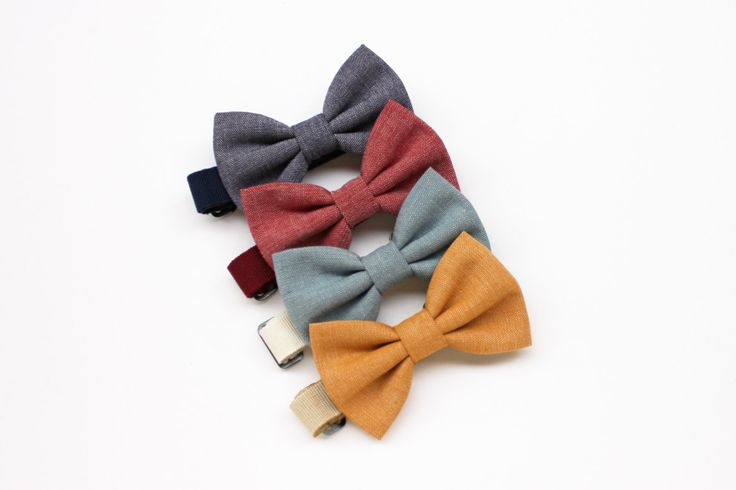 Papillon per bambino blu jeans,giallo senape,celeste,rosso, farfallini per bambini, per ragazzi, cravatta cerimonia per paggetto matrimonio di ScoccaPapillon su Etsy