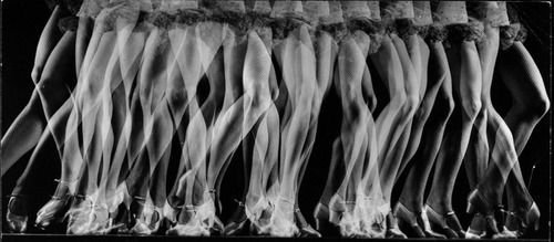 """Master of stroboscopic photography: Gjon Mili. Multiple exposure stroboscopic image of legs & feet of actress/dancer Betty Bruce as she does a fast tap routine in Broadway show """"High Kickers"""",1941 original caption from LIFE #experimentsinmotion #motion #dance: Multiple Image, Art"""