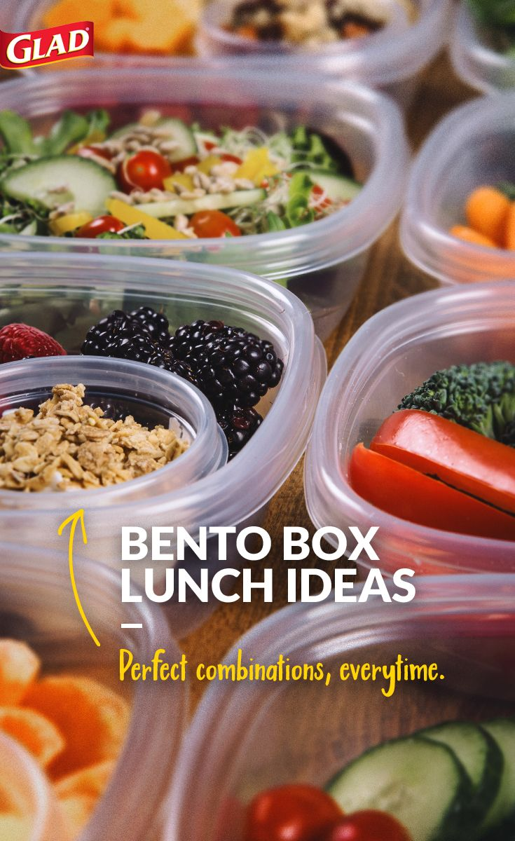 Want to create your own bento box-inspired lunch? Just use perfectly sized GladWare containers for on-the-go meals that are just right. Curate colorful combinations, eat healthy portions and keep your lunch experience tasty and beautiful.