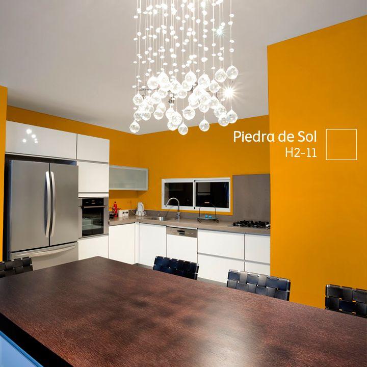 Affordable Haz De Tu Cocina Un Lugar Clido Con Un Color As With Pintura  Para Cocinas Lavable With Pintura Lavable Para Cocinas.