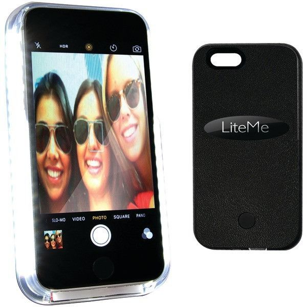 serene-life iphone(R) 6 plus lite-me selfie lighted smart case (black)