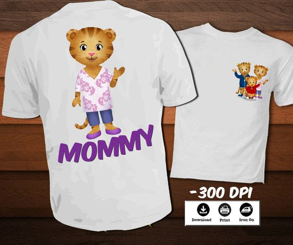 Daniel Tiger para imprimir T shirt Daniel tigre hierro