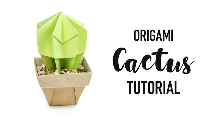 Origami Cactus Tutorial ♥︎ DIY ♥︎ Paper Kawaii