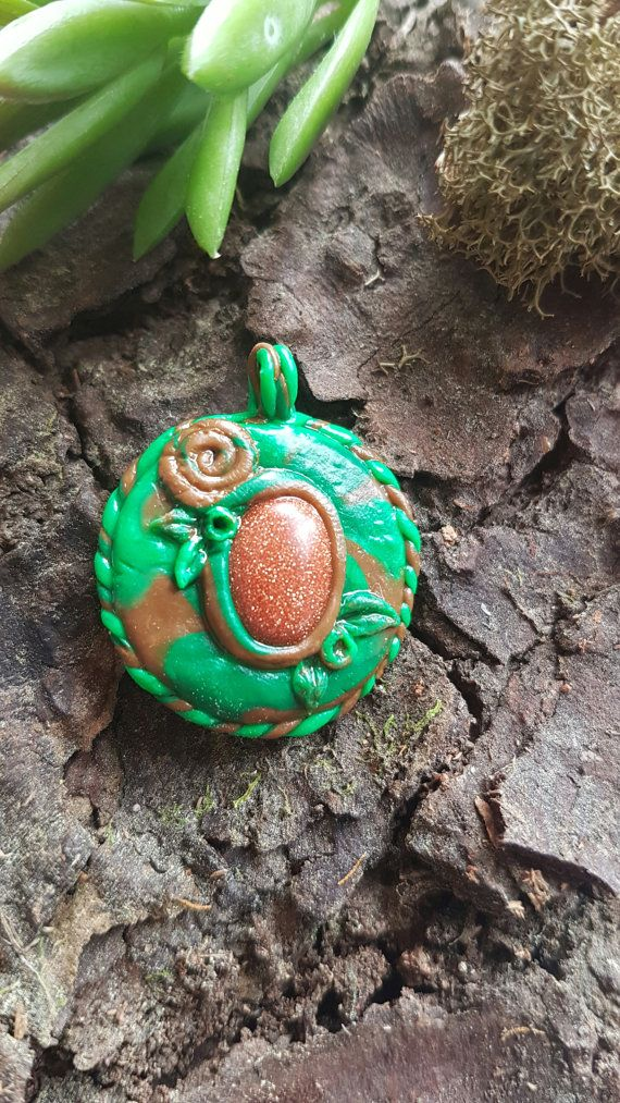 Hey, I found this really awesome Etsy listing at https://www.etsy.com/au/listing/483371967/golden-sandstone-polymer-clay-pendant