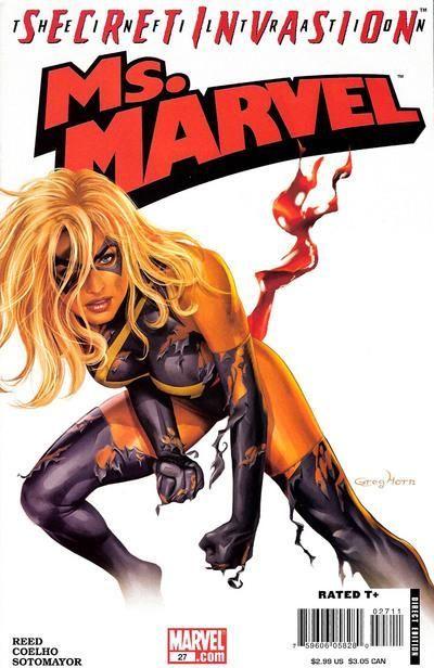 Ms. Marvel (2006) #27 cover by Greg Horn - Secret Invasion