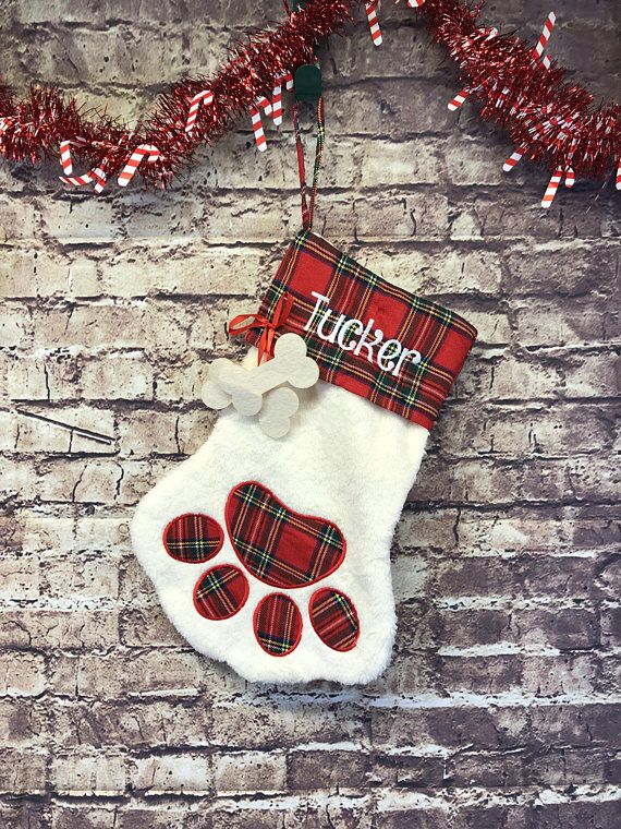 Custom Pet Christmas Stocking Gift Embroidered Stocking for