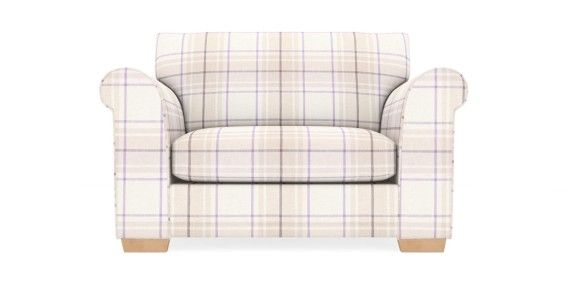 Buy Toulouse Snuggle Seat (2 Seats) Soft Woven Check Mauve Slim Block - Light from the Next UK online shop
