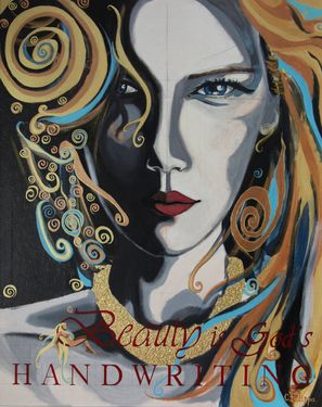 "Saatchi Online Artist CHRISTINA FILIPPA; Painting, ""Beauty is God's Handwriting"" #art"