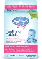 Hyland's teething tablets. We cannot live without these during teething time!