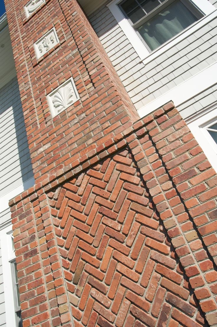 Nautically detailed red brick chimney - Degnan Design