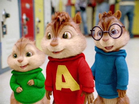 Alvin and the Chipmunks Movie! I love Theodore! He's so cute!