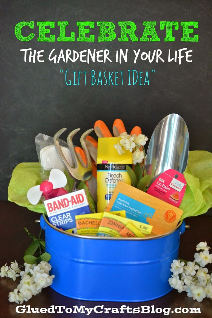 celebrate the gardener in your life gift basket idea