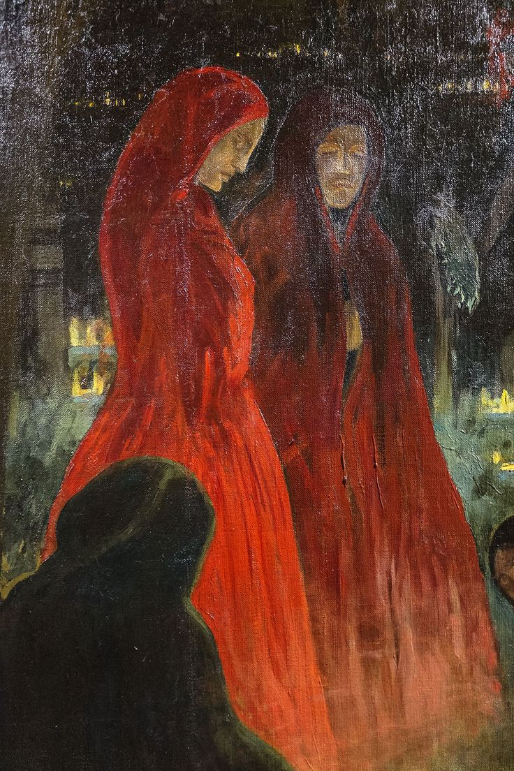 Kőrösfői-Kriesch Aladár: Halottak napja, részlet, 1910