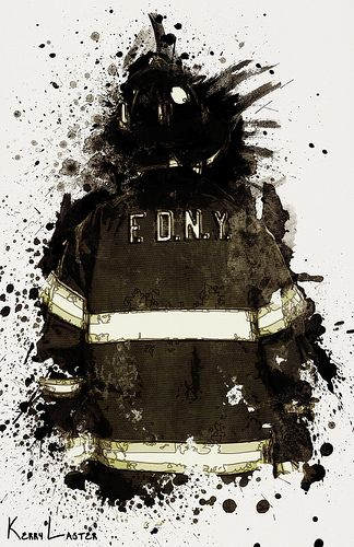 In Honor of the 343 - A:  This is a collection of digital paintings I created to honor the 343 firefighters that died during 9-11. I was so moved by my thoughts of that day and all the brave firefighters that lost their lives trying to save others. And it is that type of sacrifice that speaks volumes about he human spirit.