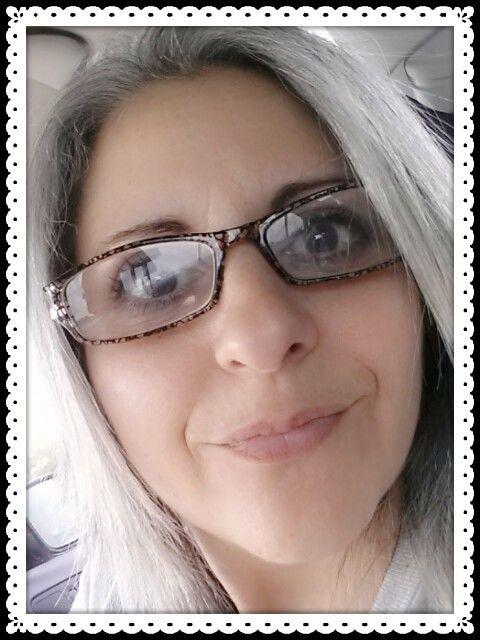 Gray hair & glasses