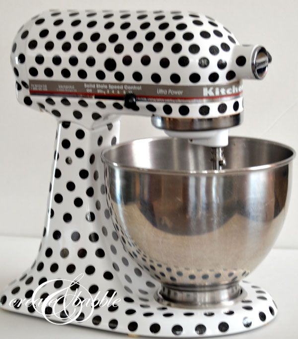 Kitchenaid Mixer Makeover - would love to do this in a different pattern (and maybe even a different color)