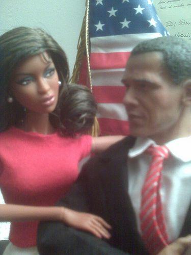 Barack & Michelle Obama dolls