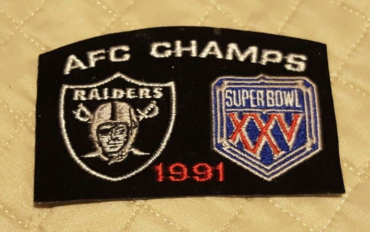 1991 AFC CHAMPS OAKLAND RAIDERS PATCH Super Bowl XXV (never happen) Rare | Sports Mem, Cards & Fan Shop, Fan Apparel & Souvenirs, Football-NFL | eBay!