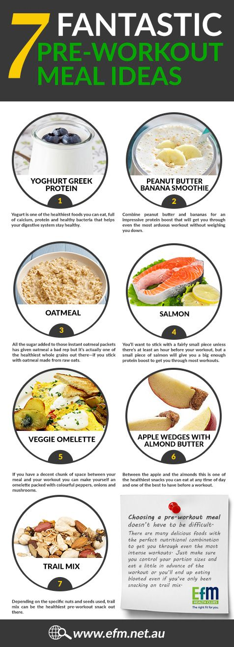 It's a good idea to eat before you go for a workout, but eating too much or eating the wrong things can actually lead to more cramping and pain than eating nothing at all. Some people struggle to keep certain foods down or exercise with food in their stomach. So what exactly should you be eating before a workout?