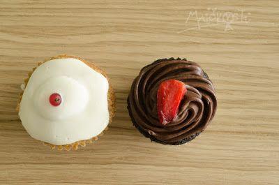domácí mrkvové a čokoládové cupcakes / homemade carrot and chocolate cupcakes