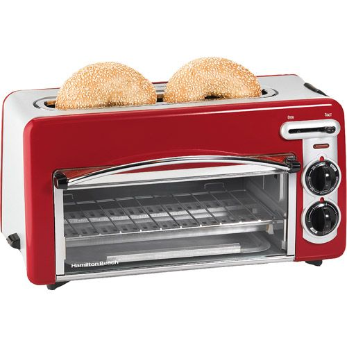 Hamilton Beach Toastation 2-in-1 2-Slice Toaster & Oven, Red, 22703 $37 Walmart - its red but I still like it