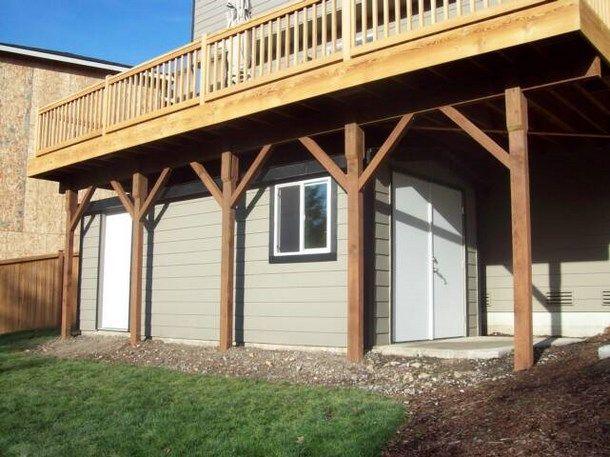 Under Deck Storage Design | ... under deck storage shed plans wood storage shed kits for sale