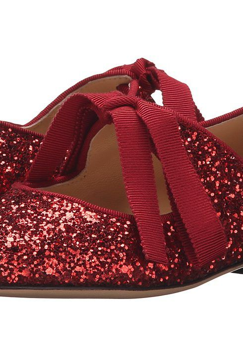 Charlotte Olympia Incy Olivia (Toddler/Little Kid) (Red Glitter Fabric) Women's Flat Shoes - Charlotte Olympia, Incy Olivia (Toddler/Little Kid), I009524-600, Footwear Closed Casual Flat, Casual Flat, Closed Footwear, Footwear, Shoes, Gift, - Fashion Ideas To Inspire