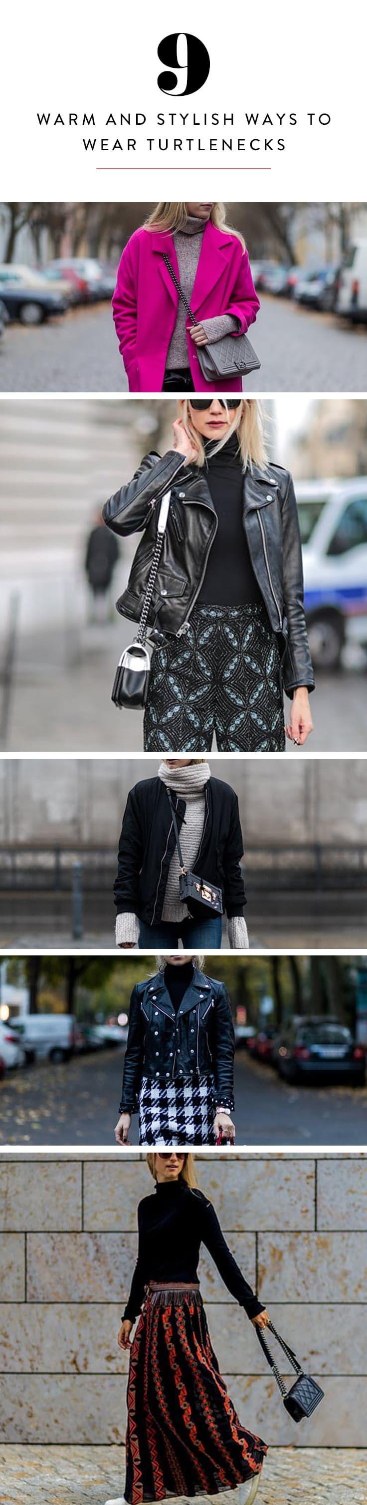 9 Warm and Stylish Ways to Wear Turtlenecks This Winter via @PureWow