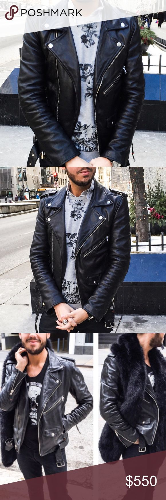 Blk Dnm leather jacket Beautiful blk dnm leather jacket. BLK DNM Jackets & Coats Bomber & Varsity