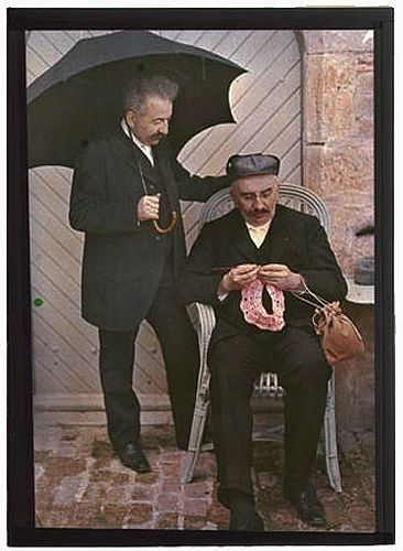 The Lumiere brothers invented the moving picture, obviously one crocheted.