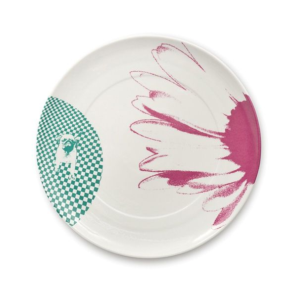SINGLE SET - plate - Mopsdesign  Porcelain plate, element of SINGLE SET collection.
