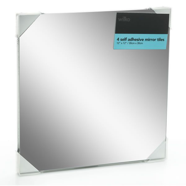 Wilko Self Adhesive Mirror Tiles 30 x 30cm 4pk