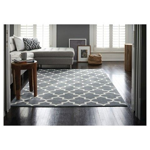 Threshold Fretwork Rug Gray From Target · Gray Blue Dining RoomLiving ...