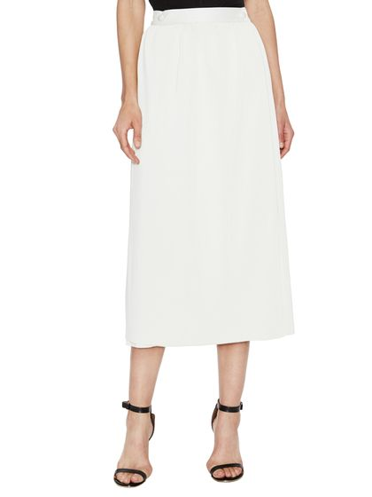 Shed Pleated Midi Skirt